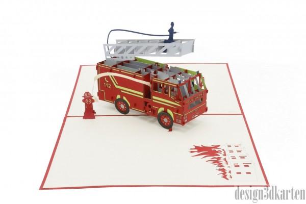 Feuerwehr von design3dkarten