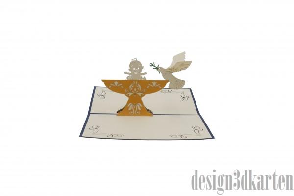 Taufe Junge von design3dkarten