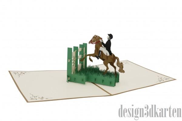 Springreiter von design3dkarten