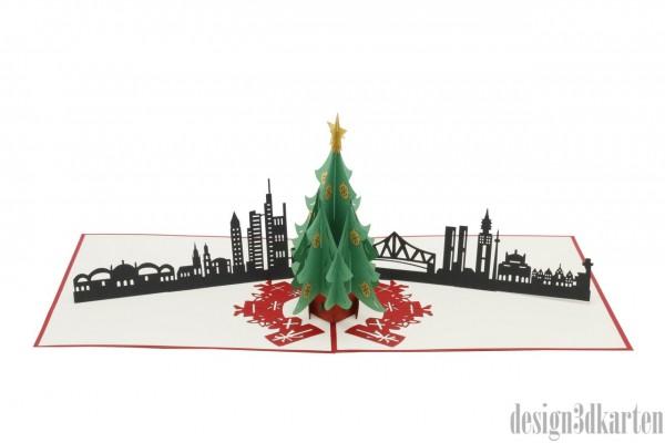 Skyline Frankfurt von design3dkarten