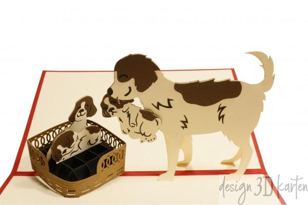 Hundefamilie von design3dkarten