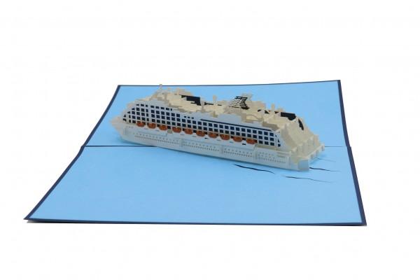 Kreuzfahrtschiff von design3dkarten