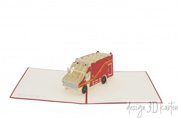 Rettungswagen von design3dkarten