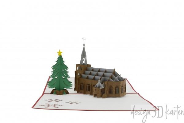 Winterliche Kirche von design3dkarten