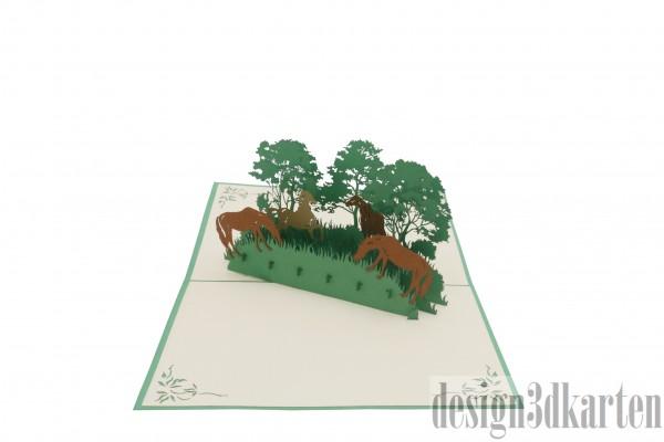 Wildpferde von design3dkarten