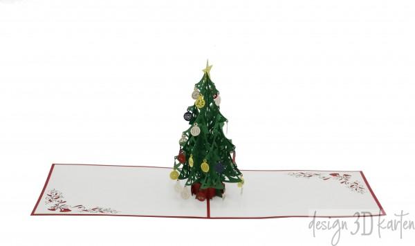Tannenbaum mit Christbaumkugeln von design3dkarten