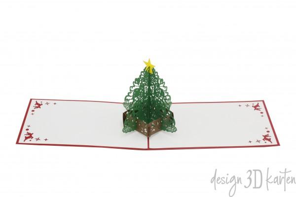 Weihnachtsbaum von design3dkarten