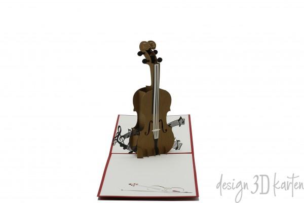 Geige von design3dkarten