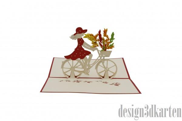 Damenfahrrad von design3dkarten