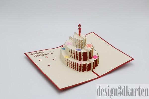 Geburtstagskuchen von design3dkarten