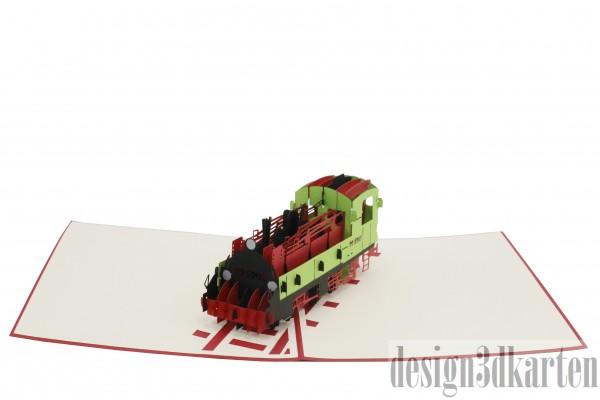 Lokomotive von design3dkarten