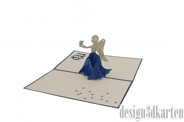 Jungfrau von design3dkarten