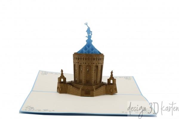 Mannheimer Wasserturm von design3dkarten