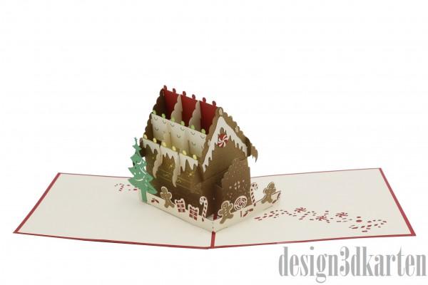 Lebkuchenhaus von design3dkarten