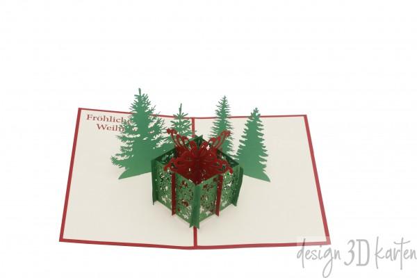Geschenkbox Weihnachten von design3dkarten