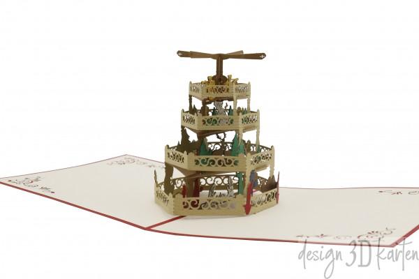 Weihnachtspyramide von design3dkarten