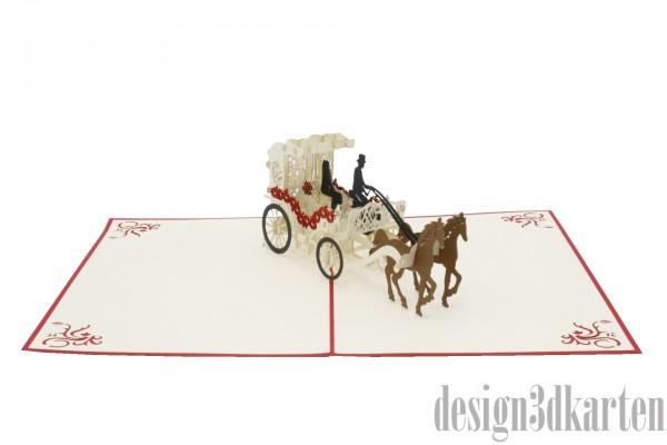 Hochzeitskutsche von design3dkarten