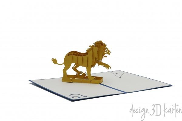 Löwe von design3dkarten