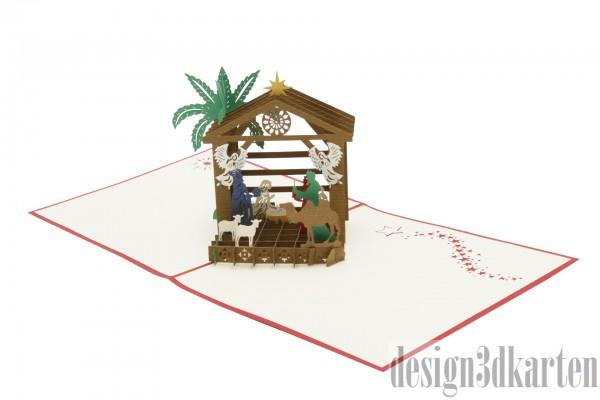 Weihnachtskrippe von design3dkarten