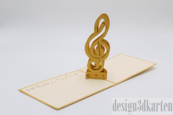 Violinschlüssel von design3dkarten