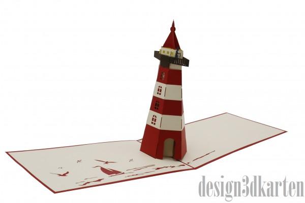 Leuchtturm von design3dkarten