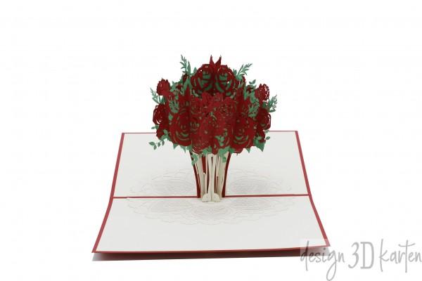 Rosenstrauß Vase von design3dkarten