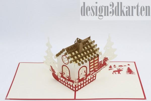 Weihnachtshaus von design3dkarten