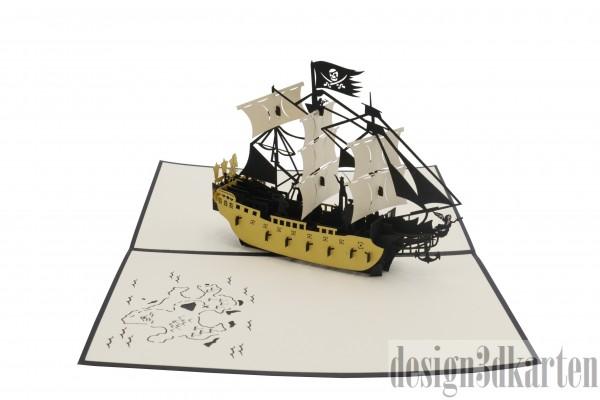 Piratenschiff von design3dkarten