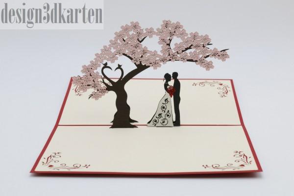 Küssendes Hochzeitspaar von design3dkarten