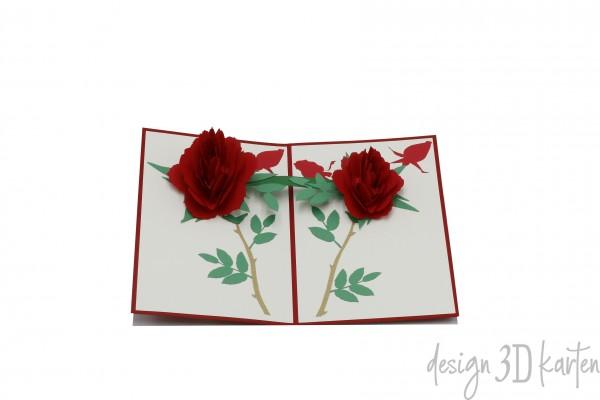 Blühende Rosen von design3dkarten