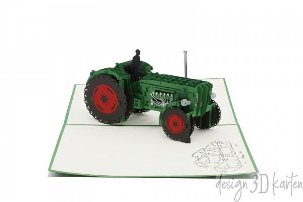 Traktor, Oldtimer von design3dkarten