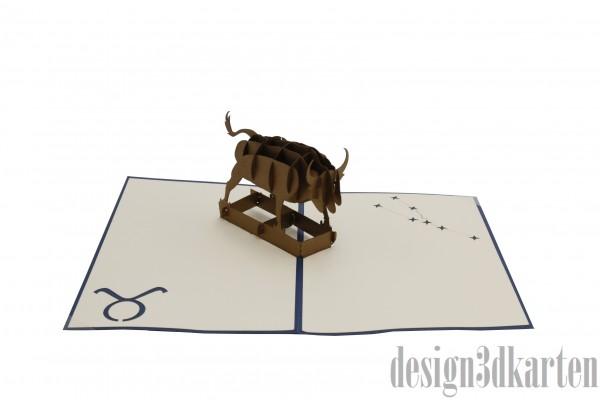Stier von design3dkarten
