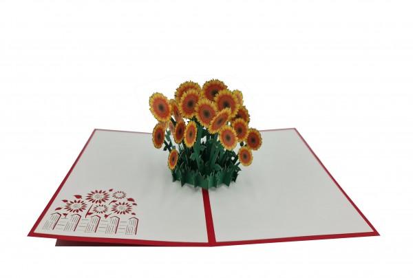 Sonnenblume von design3dkarten