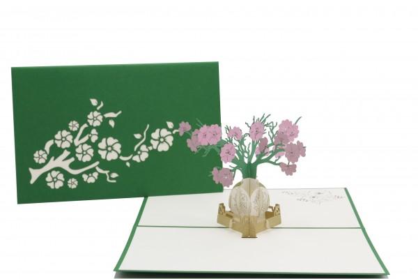 Blumenstrauß Vase von design3dkarten